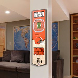 Cleveland Browns | Stadium Banner | Home of the Browns | Wood