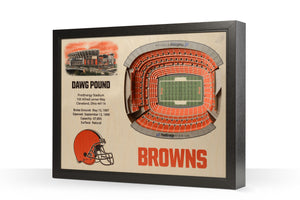 Cleveland Browns | 3D Stadium View | The Dawg Pound | Wall Art | Wood