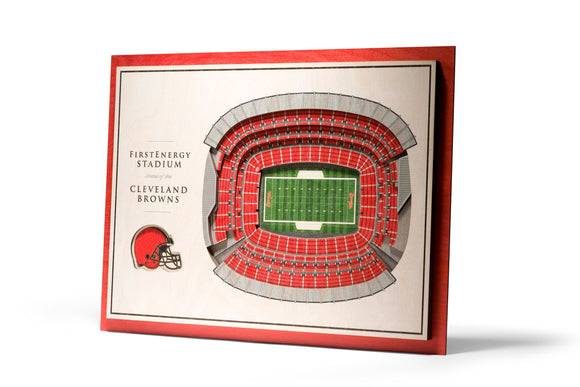 Cleveland Browns | 3D Stadium View | First Energy Stadium | Wall Art | Wood | 5 Layer