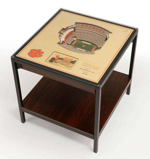 Clemson Tigers | 3D Stadium View | Lighted End Table | Wood