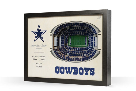 Dallas Cowboys | 3D Stadium View | America's Team | Wall Art | Wood