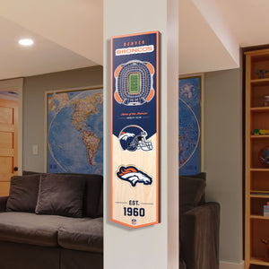 Denver Broncos | Stadium Banner | Home of the Broncos | Wood