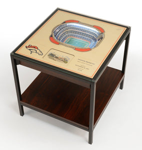 Denver Broncos | 3D Stadium View | Lighted End Table | Wood