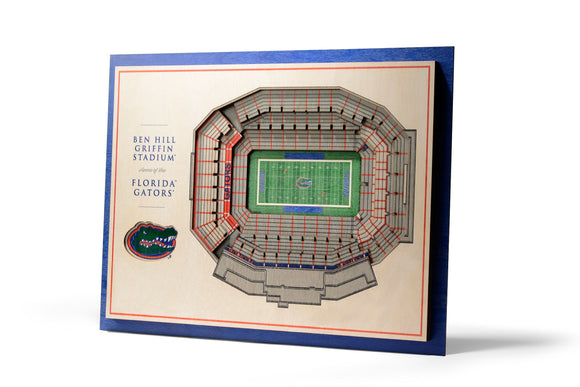 Florida Gators | 3D Stadium View | Ben Hill Griffin Stadium | Wall Art | Wood | 5 Layer