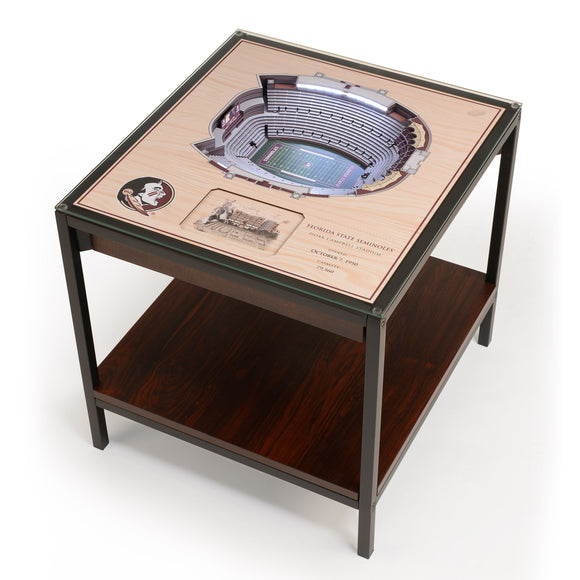 Florida State Seminoles | 3D Stadium View | Lighted End Table | Wood