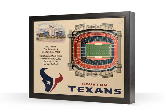 Houston Texans | 3D Stadium View | NRG Stadium | Wall Art | Wood