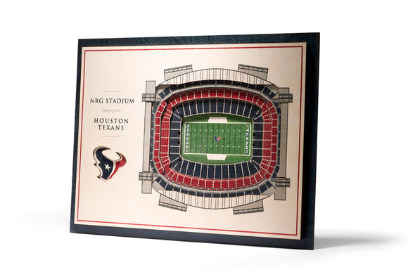 Houston Texans | 3D Stadium View | NRG Stadium | Wall Art | Wood | 5 Layer