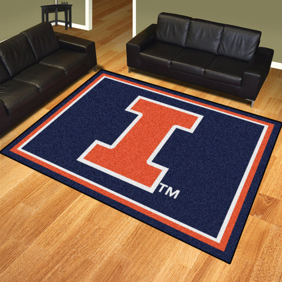 Illinois Fighting Illini | Rug | 8x10 | NCAA