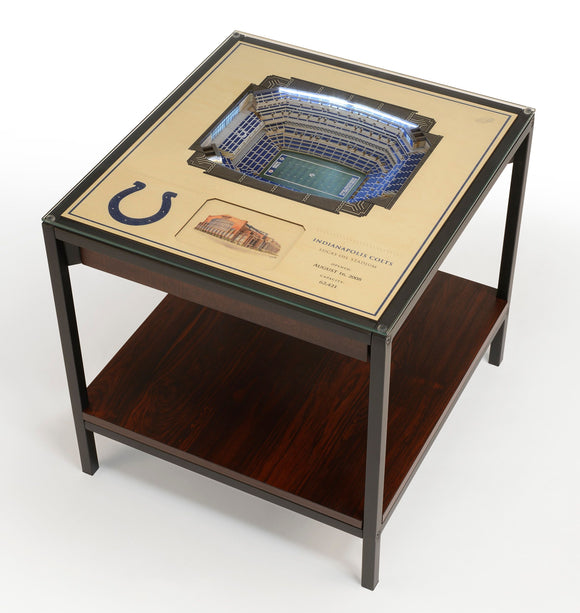 Indianapolis Colts | 3D Stadium View | Lighted End Table | Wood