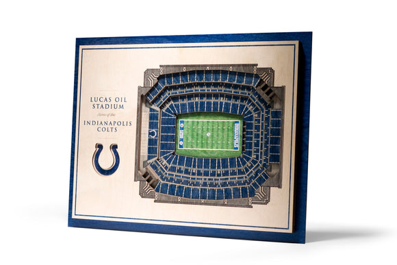Indianapolis Colts | 3D Stadium View | Lucas Oil Stadium | Wall Art | Wood | 5 Layer