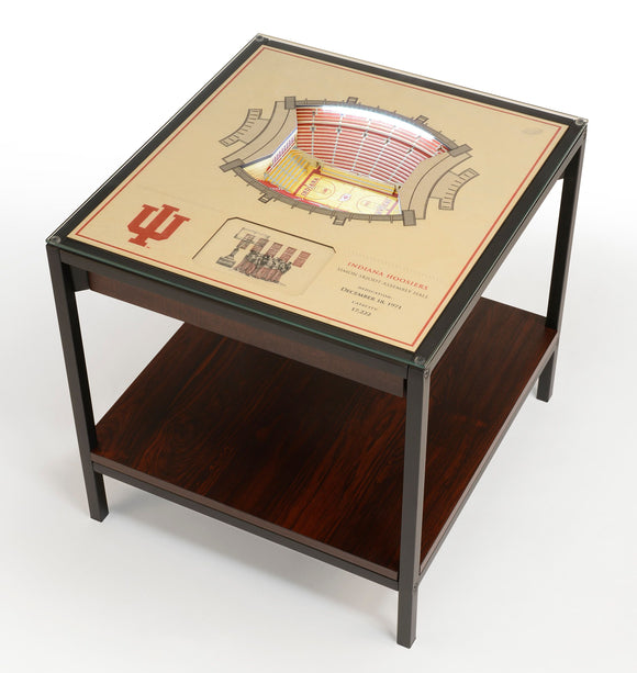 Indiana Hoosiers | 3D Stadium View | Lighted End Table | Wood