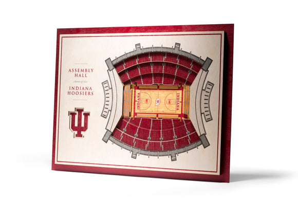 Indiana Hoosiers | 3D Stadium View | Assembly Hall | Wall Art | Wood | 5 Layer