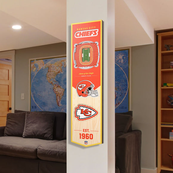 Kansas City Chiefs | Stadium Banner | Home of the Chiefs | Wood
