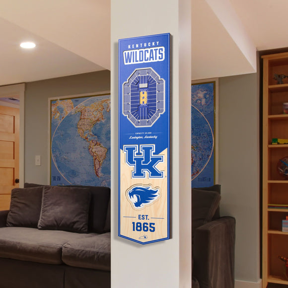 Kentucky Wildcats | Stadium Banner | Lexington Kentucky | Wood