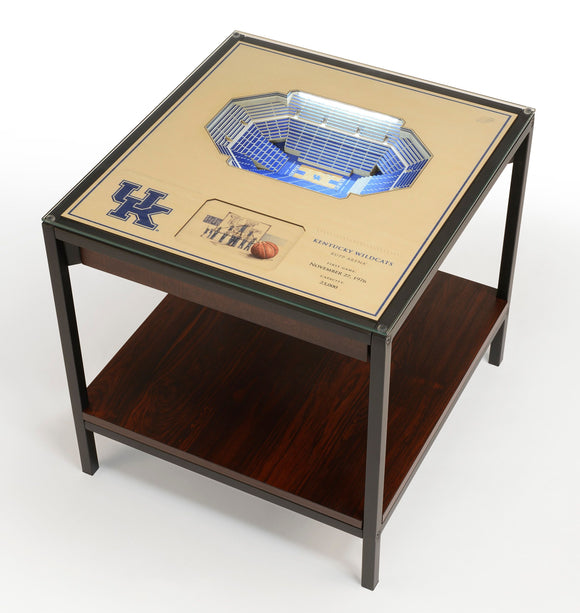 Kentucky Wildcats  | 3D Stadium View | Lighted End Table | Wood