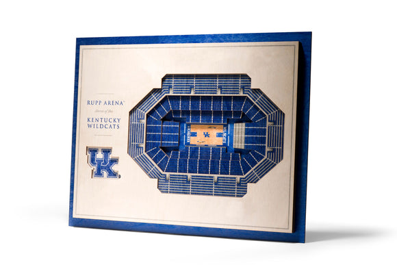 Kentucky Wildcats | 3D Stadium View | Rupp Arena | Wall Art | Wood | 5 Layer