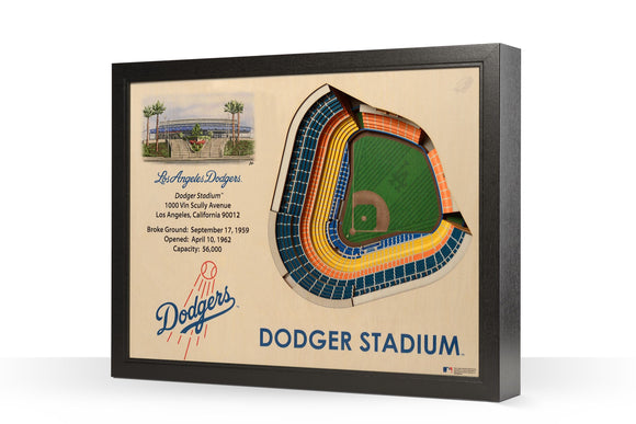 Los Angeles Dodgers | 3D Stadium View | Dodger Stadium | Wall Art | Wood
