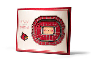 Louisville Cardinals | 3D Stadium View | KFC Yum Center | Wall Art | Wood | 5 Layer