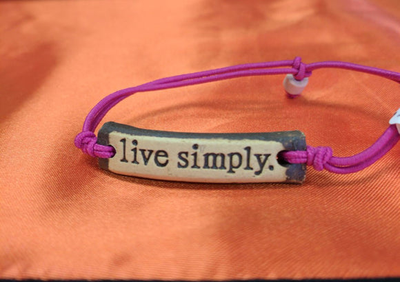 Bracelet by MudLOVE | Live Simply | Multiple Band Colors | Stretchable Band