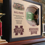 Mississippi State Bulldogs | 3D Stadium View | Art Davis Wade Stadium | Wall Art | Wood