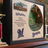 Milwaukee Brewers | 3D Stadium View | Miller Park | Wall Art | Wood