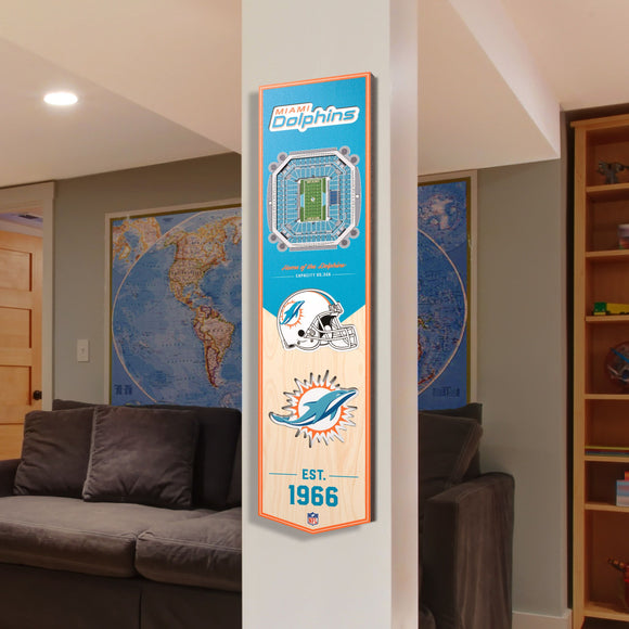 Miami Dolphins | Stadium Banner | Home of the Dolphins | Wood