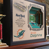 Miami Dolphins | 3D Stadium View | Hard Rock Stadium | Wall Art | Wood