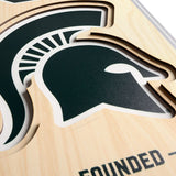 Michigan State Spartans | Stadium Banner | Spartan Stadium | Wood