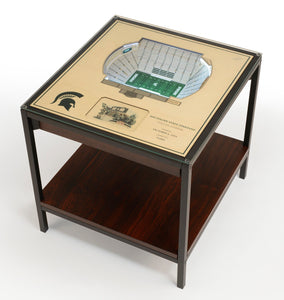 Michigan State Spartans | 3D Stadium View | Lighted End Table | Wood