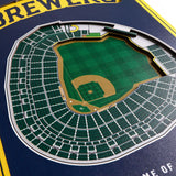 Milwaukee Brewers | Stadium Banner | Home of the Brewers | Wood