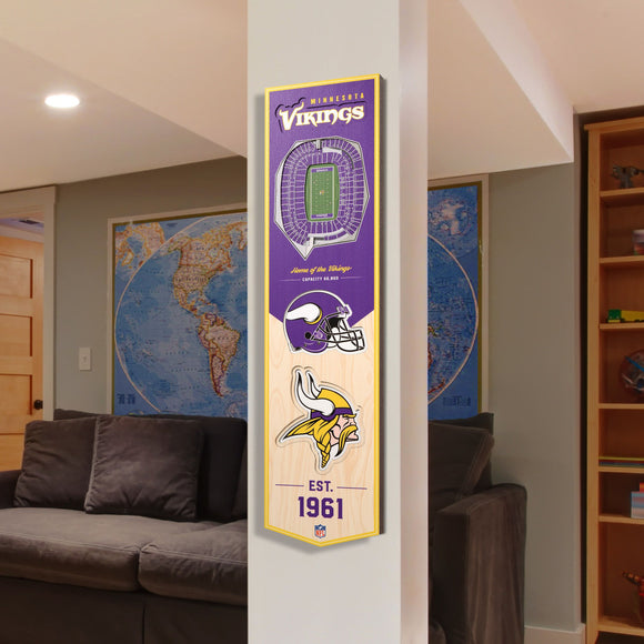 Minnesota Vikings | Stadium Banner | Home of the Vikings | Wood