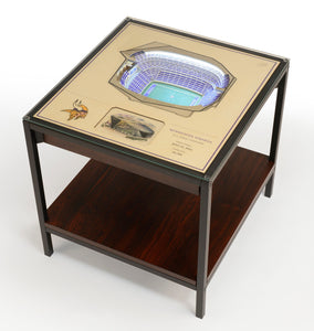 Minnesota Vikings | 3D Stadium View | Lighted End Table | Wood