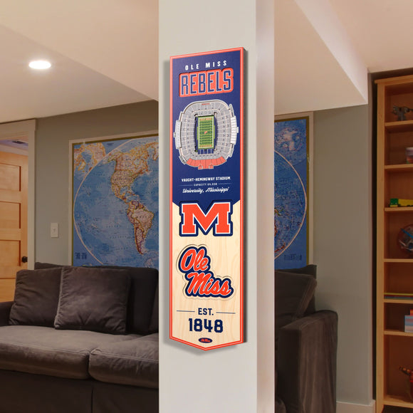 Mississippi Rebels | Stadium Banner | Vaught-Hemingway Stadium | Wood