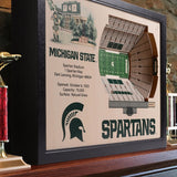 Michigan State Spartans | 3D Stadium View | Spartan Stadium | Wall Art | Wood