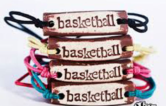 Bracelet by MudLOVE | Basketball | Multiple Band Colors | Stretchable Band