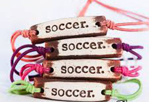 Bracelet by MudLOVE | Soccer | Multiple Band Colors | Stretchable Band