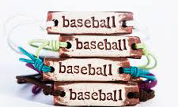 Bracelet by MudLOVE | Baseball | Multiple Band Colors | Stretchable Band