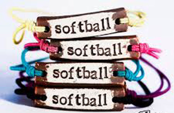 Bracelet by MudLOVE | Softball | Multiple Band Colors | Stretchable Band