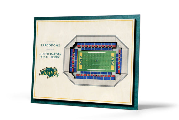 North Dakota State Bison | 3D Stadium View | Fargodome | Wall Art | Wood | 5 Layer