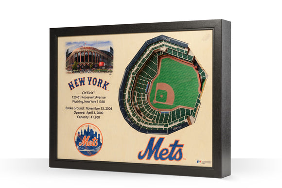 New York Mets | 3D Stadium View | Citi Field | Wall Art | Wood