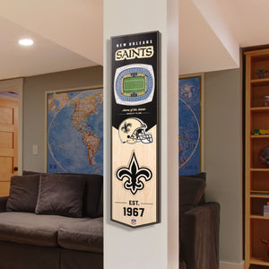 New Orleans Saints | Stadium Banner | Home of the Saints | Wood