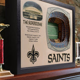 New Orleans Saints | 3D Stadium View | The Superdome | Wall Art | Wood