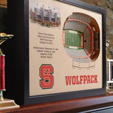 NC State Wolfpack | 3D Stadium View | Carter-Finley Stadium | Wall Art | Wood