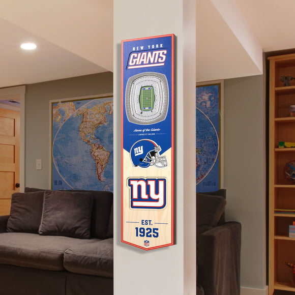 New York Giants | Stadium Banner | Home of the Giants | Wood