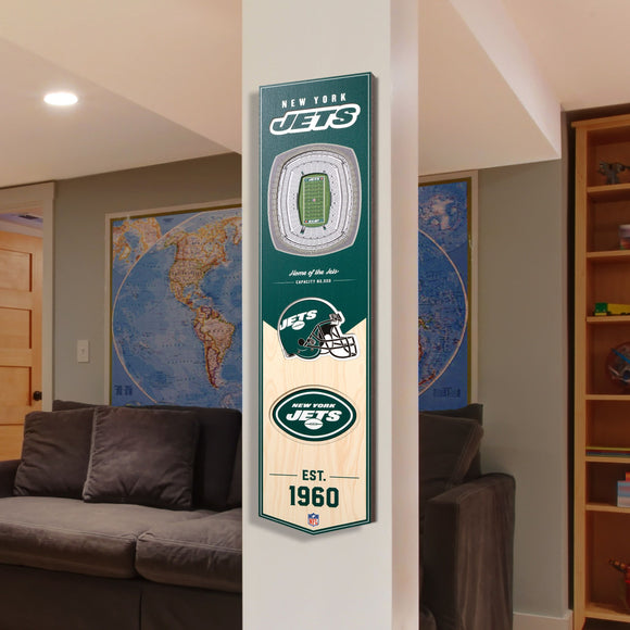 New York Jets | Stadium Banner | Home of the Jets | Wood