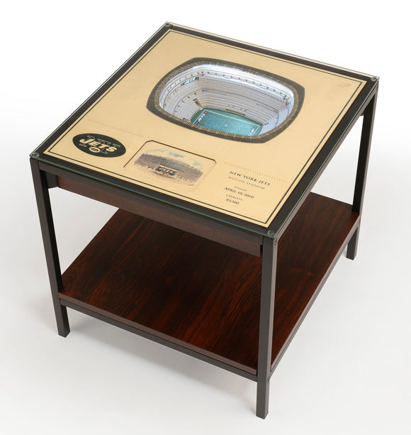 New York Jets | 3D Stadium View | Lighted End Table | Wood