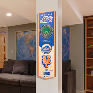New York Mets | Stadium Banner | Home of the Mets | Wood
