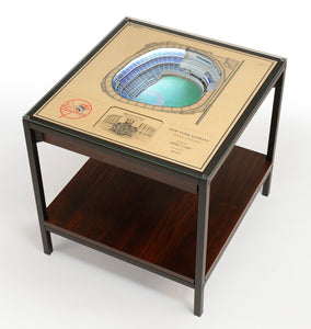 New York Yankees | 3D Stadium View | Lighted End Table | Wood