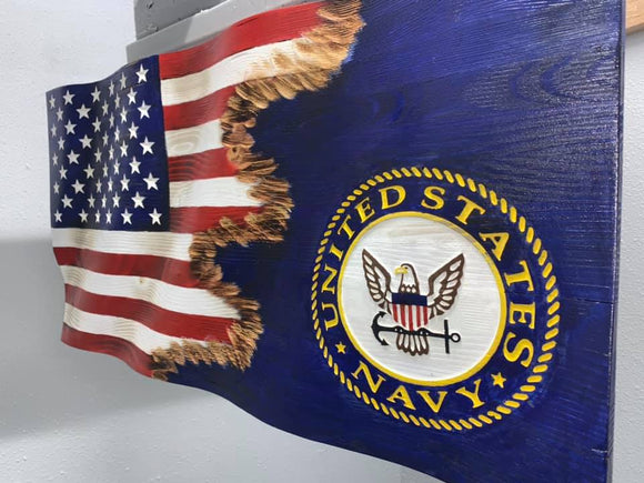 US Navy | Front Car Mats | Vinyl | Set of 2 | By Fan Mats