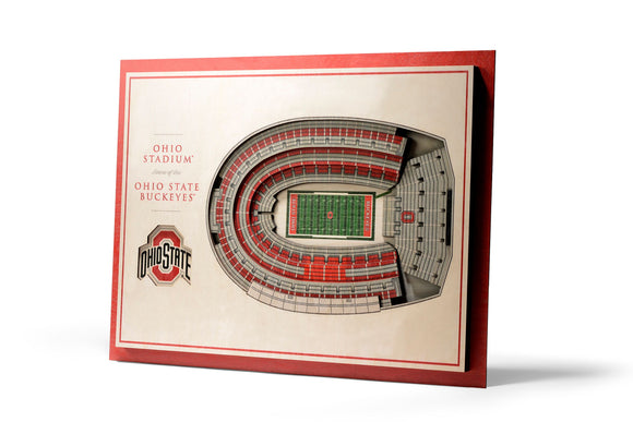 Ohio State Buckeyes | 3D Stadium View | Ohio Stadium | Wall Art | Wood | 5 Layer